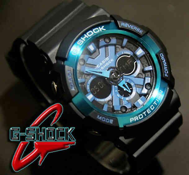 CASIO G-SHOCK GA200X  (Code: 4OS151;@180.000) Jam Tangan Pria. Kombinasi Analog Digital. Mesin Batere. Black Blue Band. Menunjukkan integritas karakter AGAN sebagai pria yang elegan, fashionable, dan berkelas. SMS: 08531 784 7777 PIN: 331E1C6F www.butikfashionmurah.com