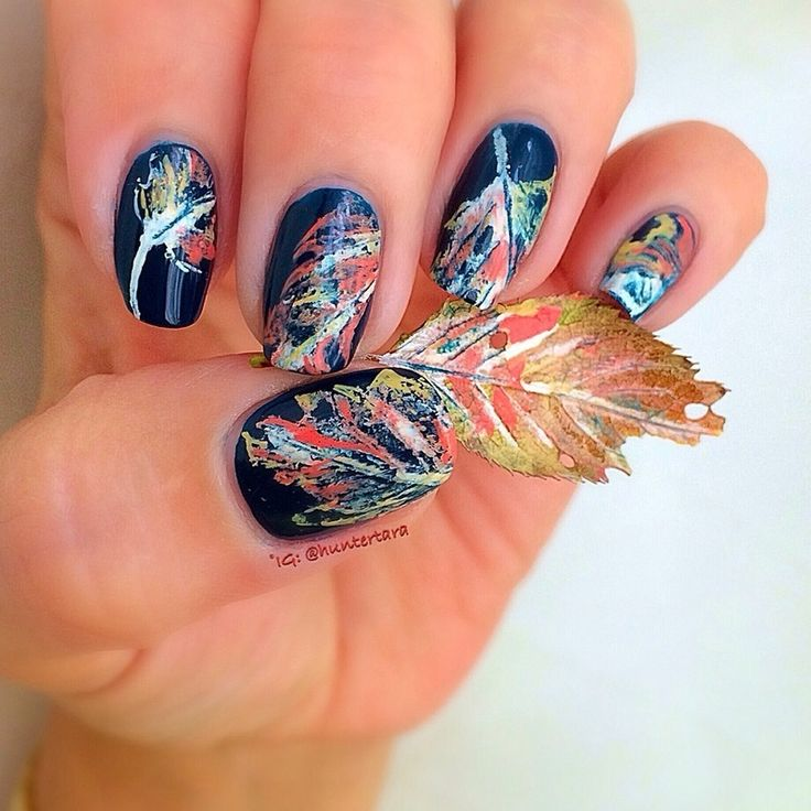 Thatleanne Firey Autumn Leaves Nail Art: 1000+ Ideas About Fall Nail Trends On Pinterest