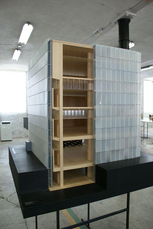 Peter Zumthor | scale 1:10, Kunsthaus Bregenz, 1997, architectural model, modulo, maquette, maqueta