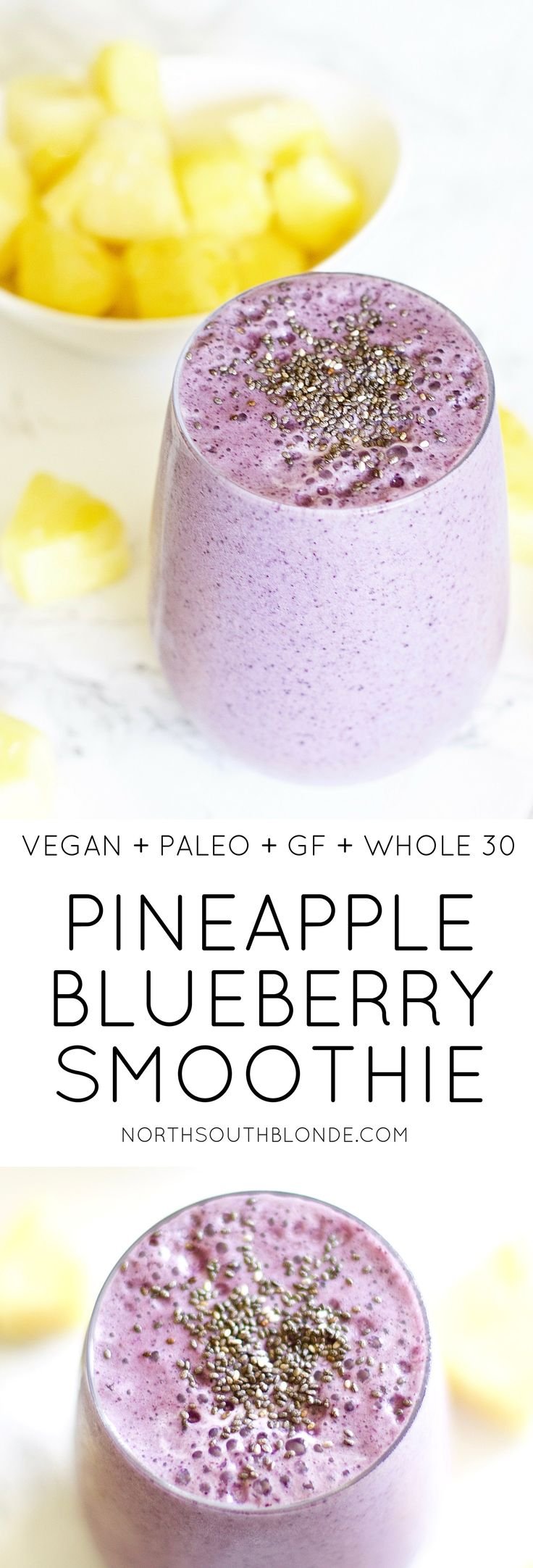 A tropical drink that can be enjoyed all year around. It's refreshing, full of antioxidants that nourishes the body for optimal health! Quick and easy, involving only a few ingredients, you too can look and feel your best this summer. Vegan | Paleo | Whole 30 | Gluten-Free | Organic | Wholesome | Summer Smoothie | Chia Seeds | Antioxidants | Weight Loss | Hair Growth | Nail Growth | Post Workout | Fitness | Baby & Toddler Food Smoothie | Refreshing Drink | Summer Drinks |