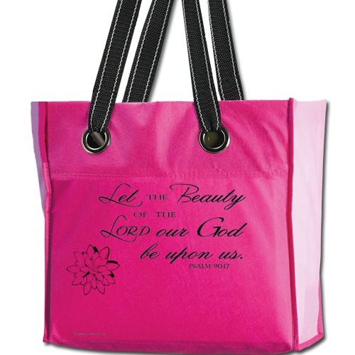 Christian Women's Ministry Tote Bag with Psalm 90:17-CTA Inc