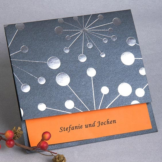 Bloom von Feuerwerk Hochzeitskarte KP048