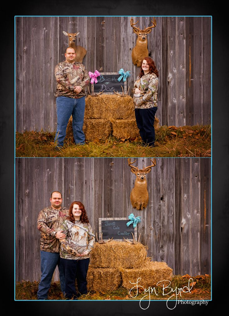 gender reveal session  hunting theme  photography