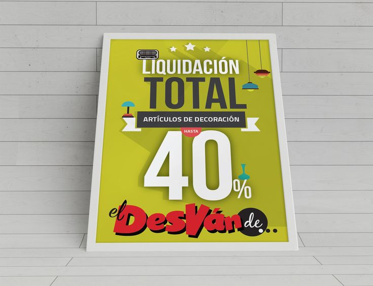 EL DESVAN DE... Cartel promocional descuentos.