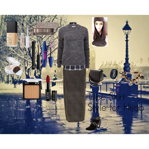 """""""Tube Skirt Style for Hijab"""" by fabsmusician on Polyvore"""