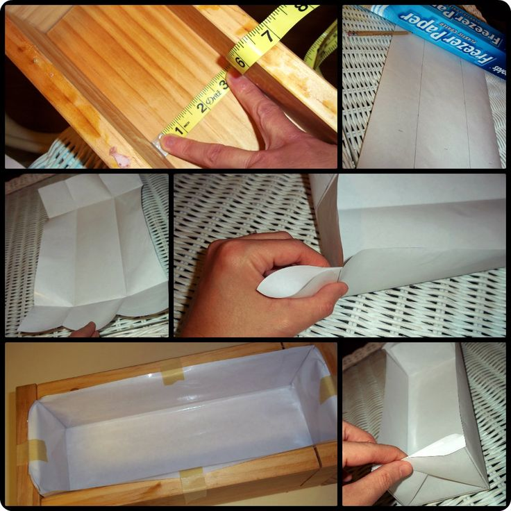 How to Line a Wooden Soap Mold. One more way.