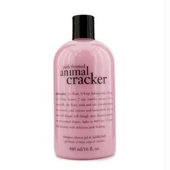 Philosophy Pink Frosted Animal Cracker (Shampoo, Shower Gel and Bubble Bath)16 fl. oz.  Price: $17.00 Body Care Tips