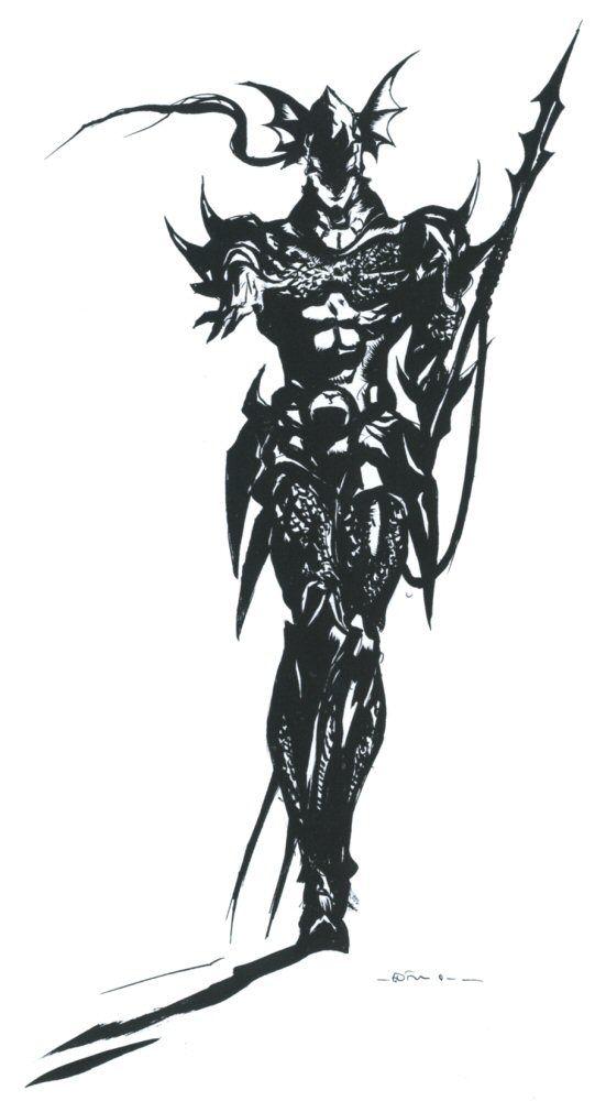 Final Fantasy IV - Kain Concept Art - Yoshitaka Amano