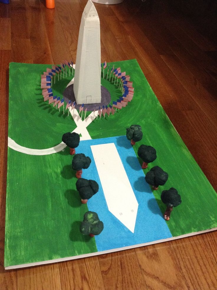 The Washington monument project is very easy to make.