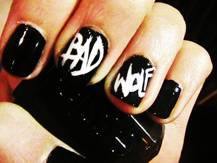 bad wolf nail art