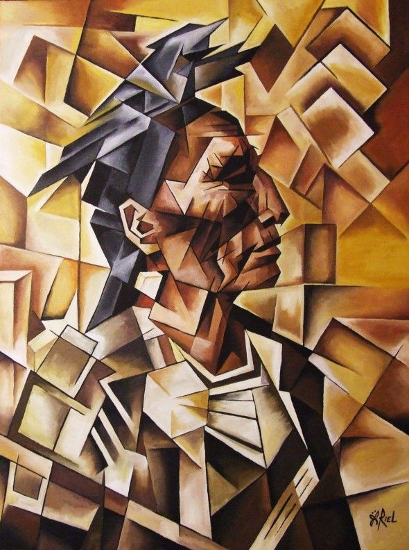cubism | Medicine Crow in cubism | Art of The Butterfly