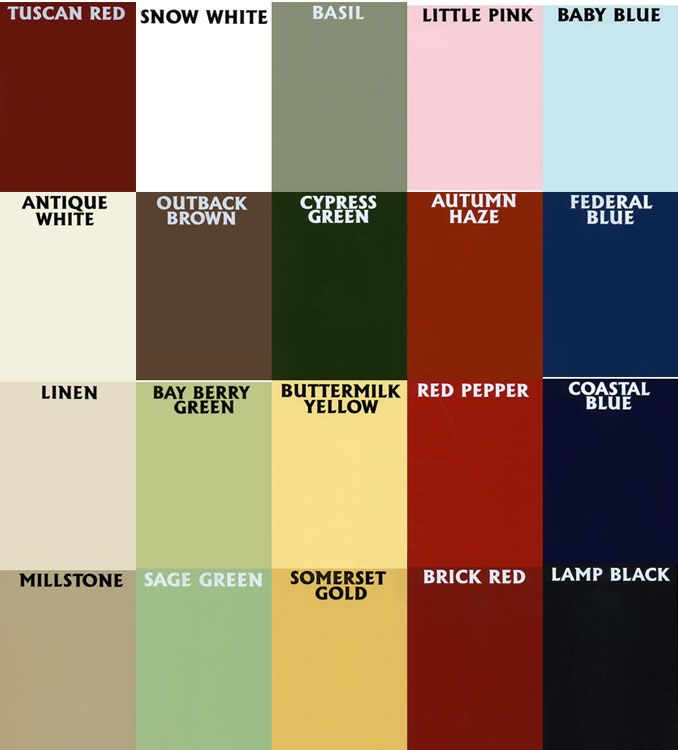 General Finishes Paint Color Chart