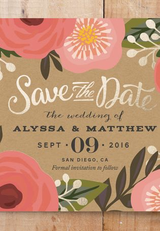 Gorgeous Save the Date -- 15% off with code: SPRING15 - ends tmw - click through for details.