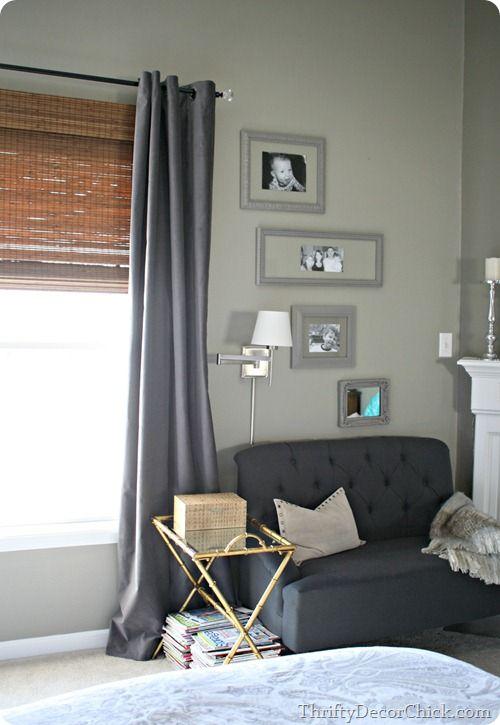 Blocking the sun (new drapes) (NOTE: gray SANELA from Ikea)