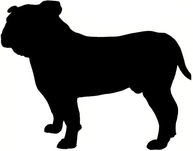 American bulldog silhouette - photo#8