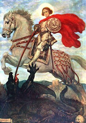 San Jorge bendito y el dragón