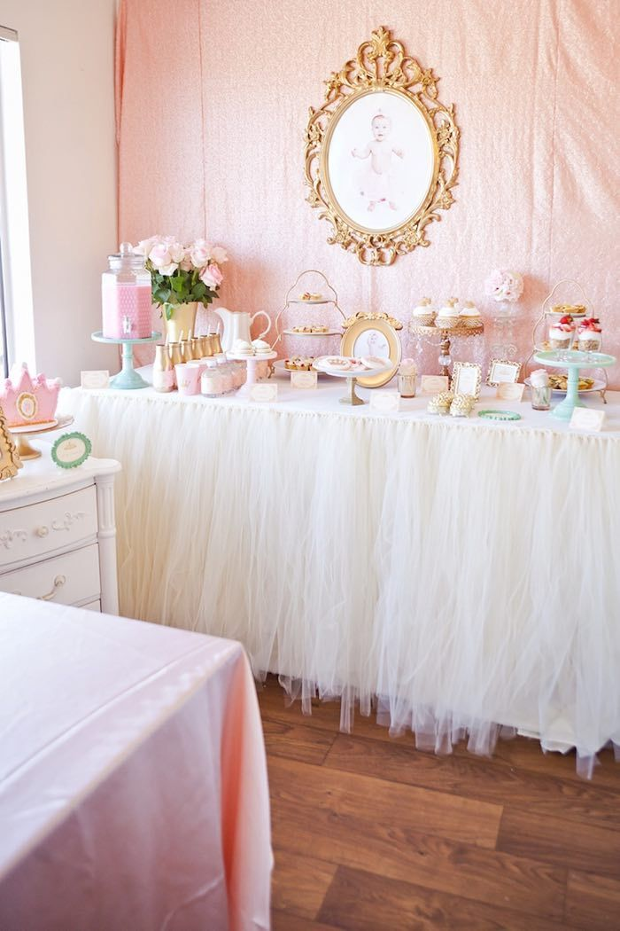 Royal Princess 1st Birthday Party via Kara's Party Ideas | KarasPartyIdeas.com (8)