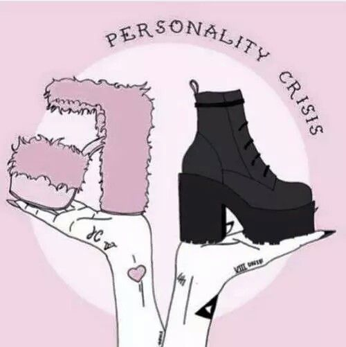 Goth or Girly..or both <- This is why Pastel Goth is a thing. It's for all of us who just can't pick.