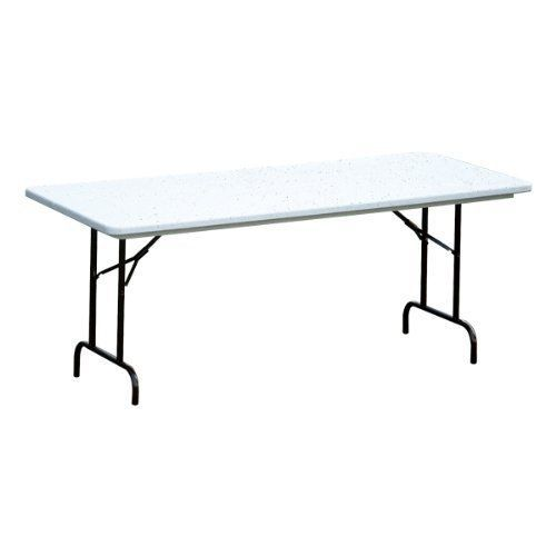 "Antimicrobial Blow-Molded Plastic Folding Table Counter Height by Correll. $134.99. Glides: Mar-proof plastic foot caps. Legs : 1"" 18-gauge steel. Table Shape: Rectangle. Warranty: 5 years. Top Material: Blow-molded antimicrobial polyethylene plastic. Correll's Antimicrobial Blow-Molded Plastic Counter-Height Folding Table protects against germs and bacteria, so it's perfect for busy settings. The antimicrobial compound is blended into the polyethylene mold, whic..."