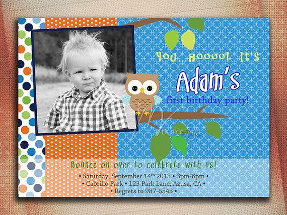 owl birthday invitation litlle owl birthday by mvdesignink on etsy