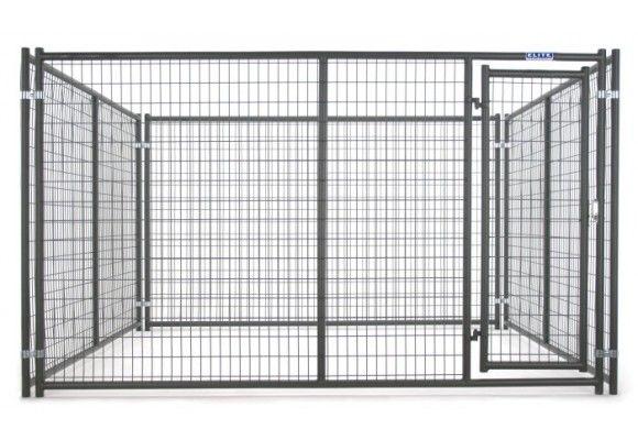 Tarter 6' x 5' Heavy Duty Dog Kennel Front Panel with Door DKFHDG5