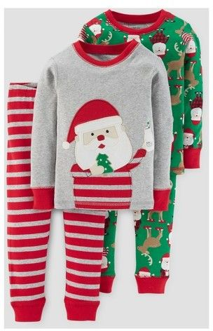 a38b445b9 Just One You made by carter Boys  4 Piece Long Sleeve Cotton Santa ...