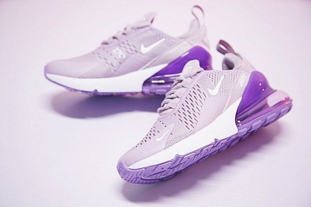 0589b07275 Women's Nike Air Max 270 Flyknit Light Purple White AH8050 510 Running Shoes  Summer Sneakers
