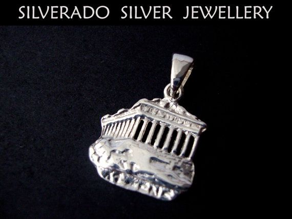 Ancient Greek Acropolis Parthenon Pendant by SilveradoJewellery, €18.00
