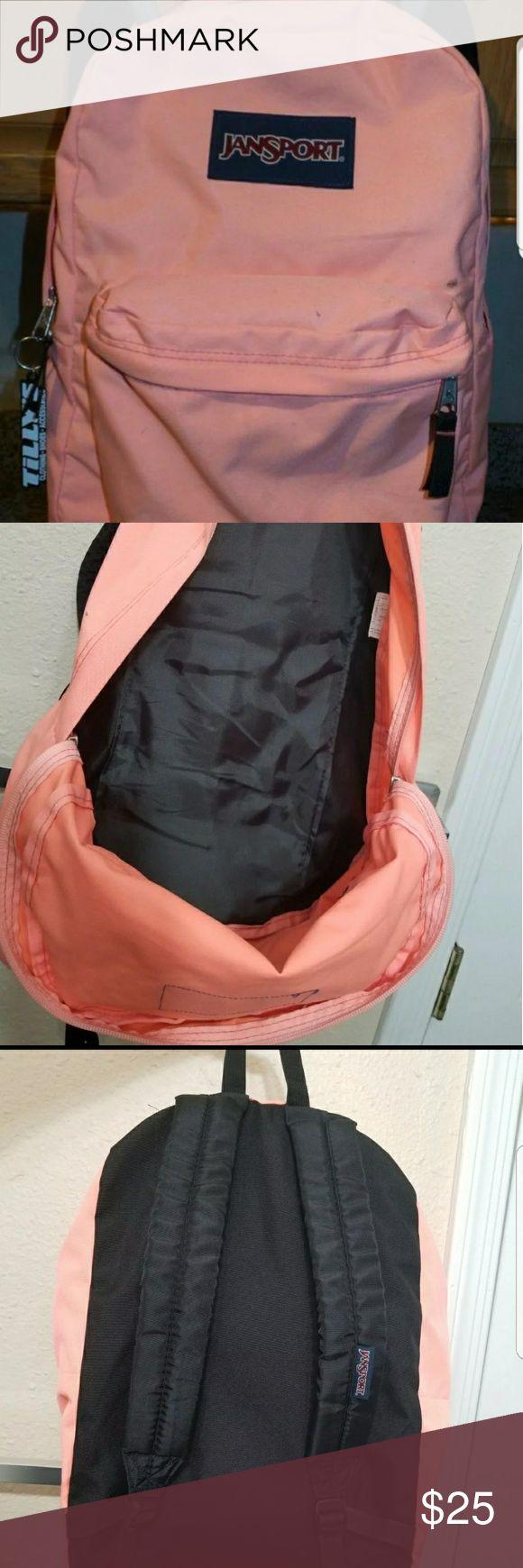Pink Jansport backpack Pink Jansport with tillys tag in great shape. Jansport Bags Backpacks