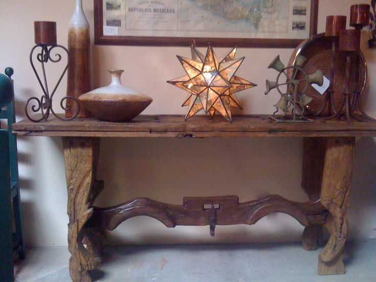 antique Mexican door console or sofa table Many doors to choose from. - 11 Best Mexican Furniture Repurposed From Antique Mexican Doors
