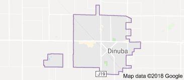 Map of Dinuba California