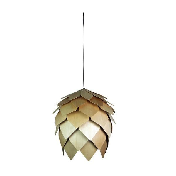 Description: The Acorn hand crafted timber pendant features individual plywood leaves carefully assembled to form the unique shape. Available in 3 sizes, looks