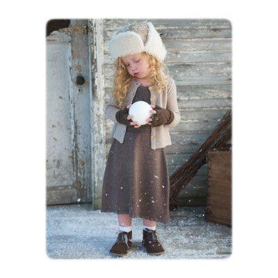Saga dress + light brown cardigan from Ellaswool.com