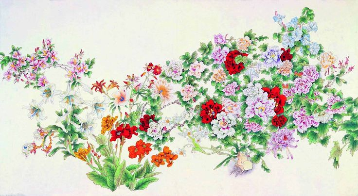 One Hundred Flowers — 百花    (1818×1000):