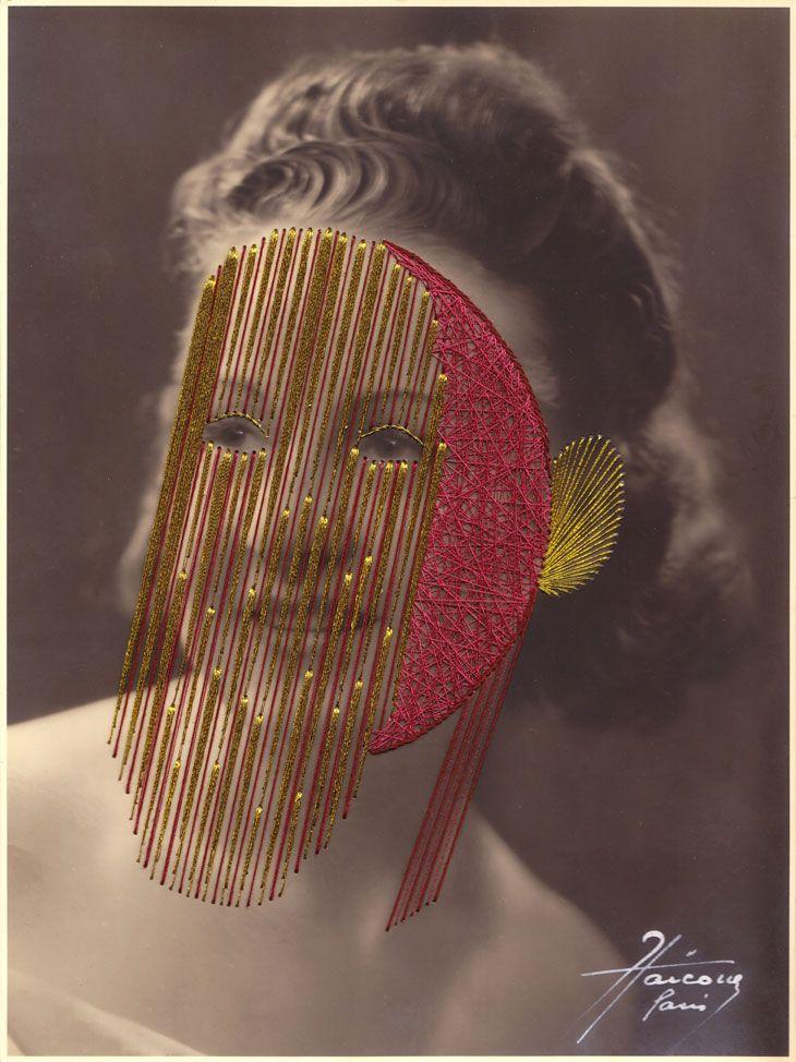 Les broderies sur photos anciennes de Maurizio Anzeri - La boite verte