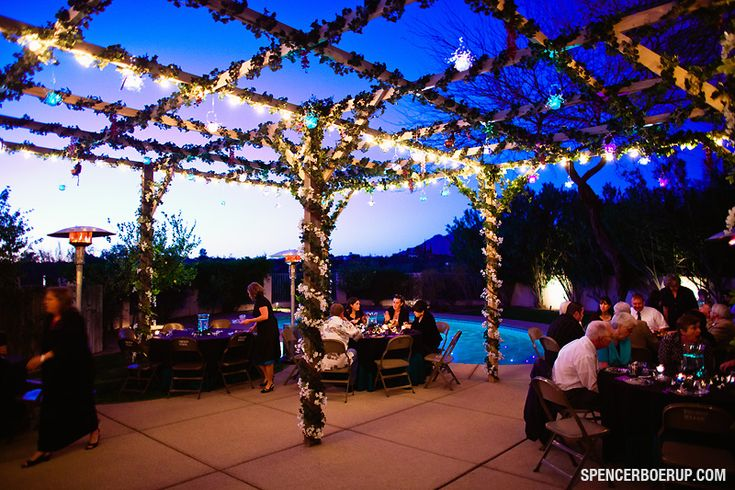 Lights With Greenery   Wedding Patio