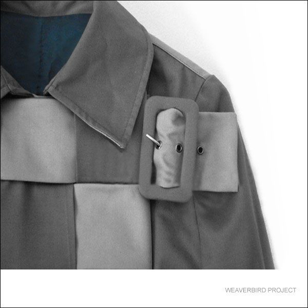 Cotton trench coat with woven detail from the collection HANDCRAFTING-PACIFIC REFLECTIONS