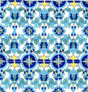 "Hand Painted 4"" x 4"" Decorative Ceramic Tiles - midcentury - bathroom tile - orlando - by Ceramic Tiles & Mosaic Wall Murals"