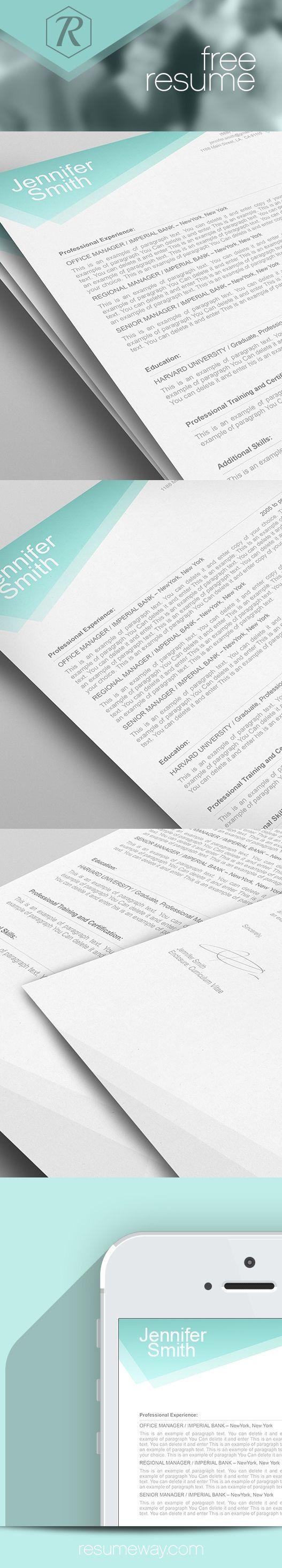 FREE Resume Template 1100020 Premium line