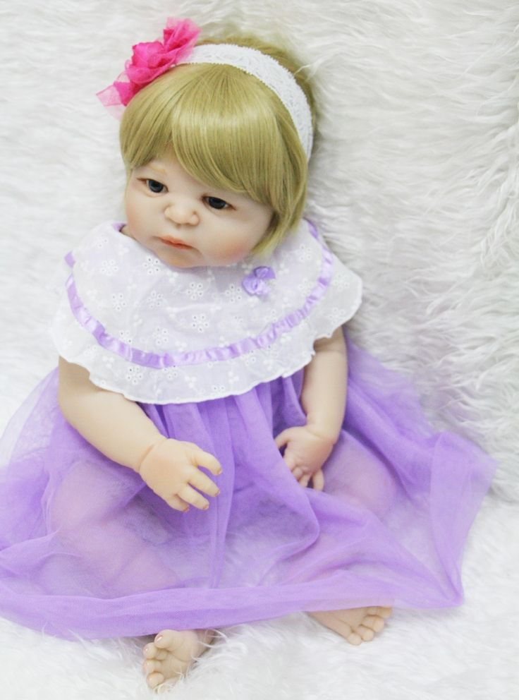 (82.89$)  Buy here - http://ai2s7.worlditems.win/all/product.php?id=32803918490 - Newborn Full Body Silicone Bebe Doll Reborn 22 Inch Realistic girl Doll Reborn Baby For children Toys alive bonecas reborn