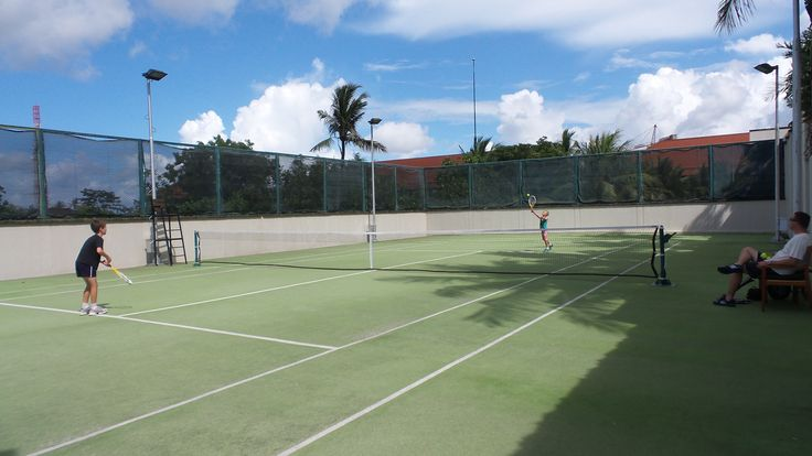 The Conrad Bali Resort has two tennis courts available for hire.
