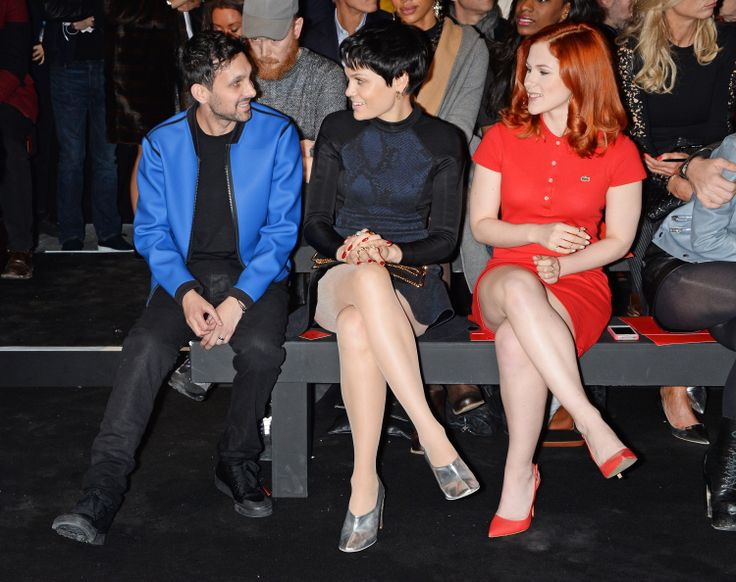 Dynamo, Jessie J and Katy B take their seats on the front row of the first ever Hunter Original London Fashion Week show.: Jessie J, London Fashion Weeks, Front Row