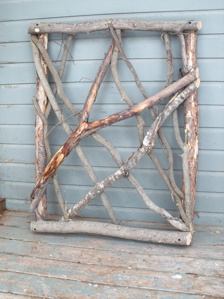 Charming Stickwork Rustic Garden Gate, Fence Gate - pinned by pin4etsy.com