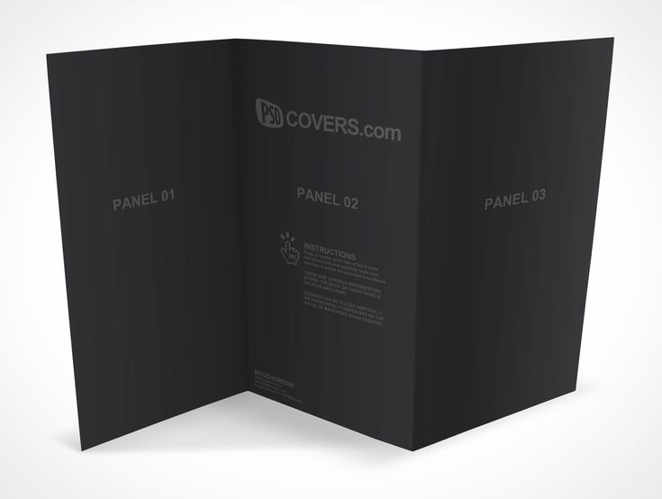 BROCHURE006 is a Tri Fold Brochure 3 Panel whose dimensions are 13×8.5 inches and folds into a 4.5×8.5 inches 3 Panel Flyer. This mockup sits along the horizontal edge from a slight birds eye view perspective (See BROCHURE004 for a more pronounced birds eye view).