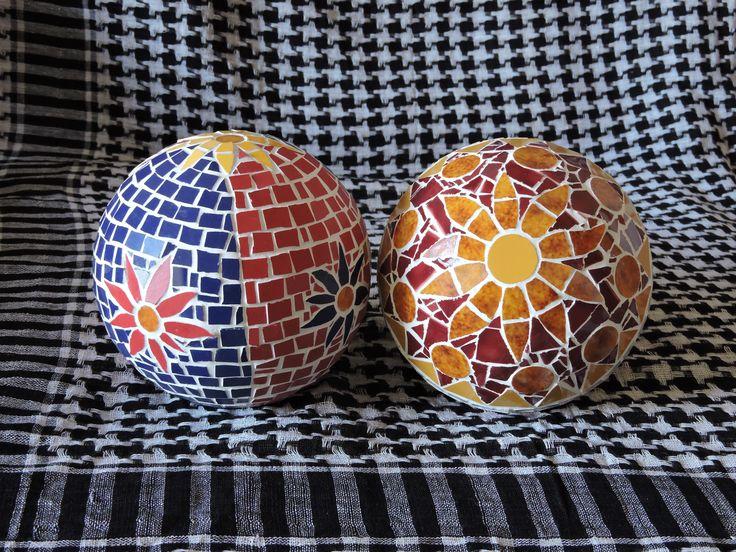 Mosaik Rosen kugel, Garden Sphere Mosaic