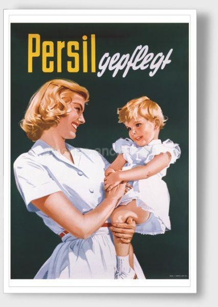 Lessive Persil - VINTAGE POSTER BANK - thème Hygiène, beauté ...