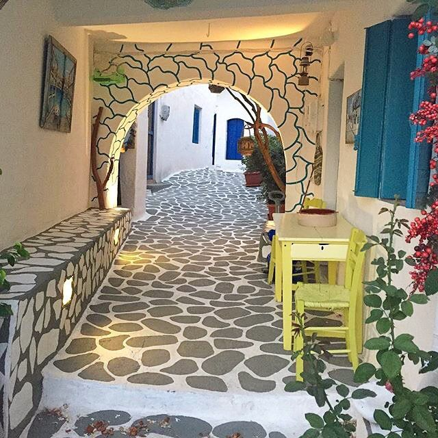 Amazing fairytale pathway, Kimolos, Greece