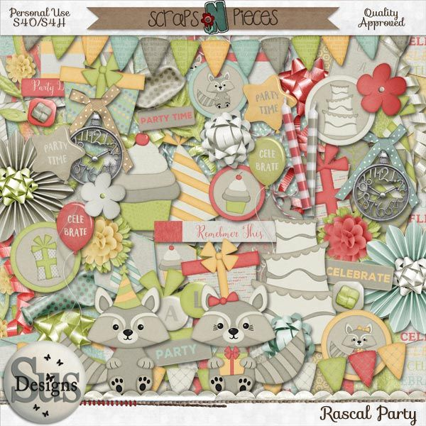 Rascal Party #SusDesigns #DigiScrap #Scrapbook #ScrapsNPieces