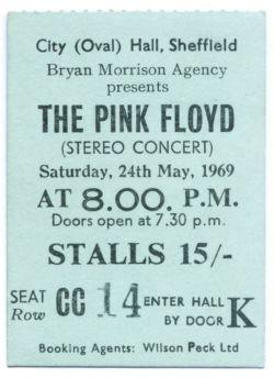Pink Floyd Concert Ticket Stub Sheffield