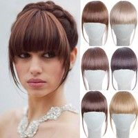 Clip on Hairpiece Extensions Straight Clip in Front Hair Bang Fringe Hair Extension